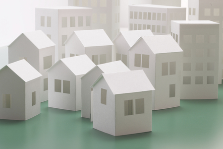 Paper Craft House And Building Stock Photo Picture And Royalty Free