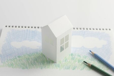 residency: Lawn House paper craft and illustrations