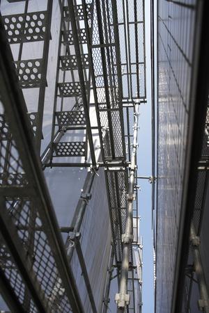 andamio: Construcción de andamios de la pared exterior