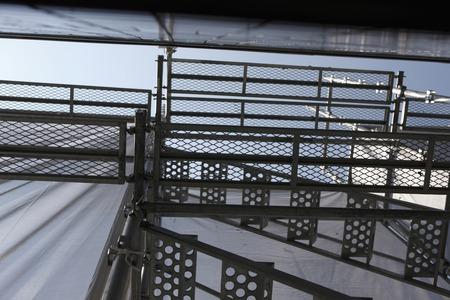 andamio: Construcci�n de andamios de la pared exterior