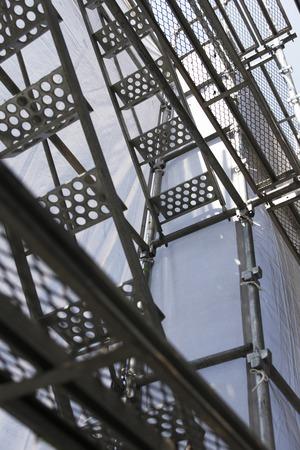 andamios: Construcción de andamios de la pared exterior