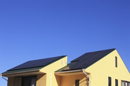 Solar panel roof Stok Fotoğraf