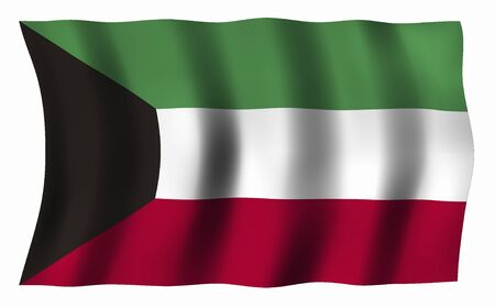 foreign national: Kuwait Flag Stock Photo