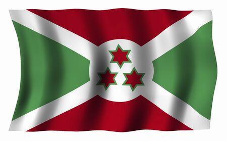 burundi: Burundi Flag Stock Photo
