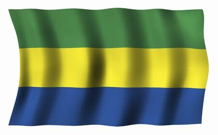 gabon: Gabon Flag Stock Photo