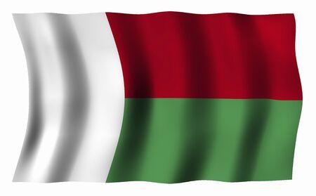 madagascar: Flag of Madagascar