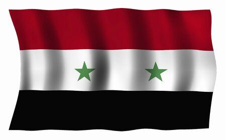 Syria: Flag of Syria Stock Photo
