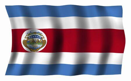 bandera de costa rica: Costa Rica Bandera  Foto de archivo