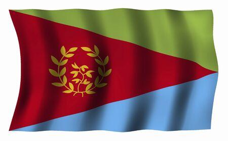 eritrea: Eritrea Flag Stock Photo