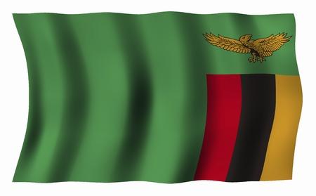 zambia: Flag of Zambia Stock Photo
