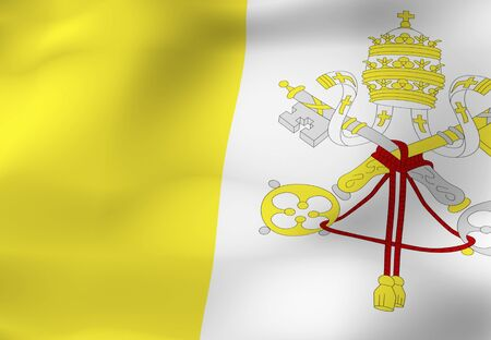 vatican city: Flag of Vatican City Stock Photo