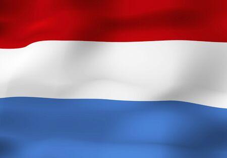 netherlands: Flag of the Netherlands Stock Photo