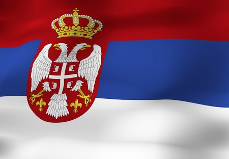 serbia: Republic of Serbia of the national flag Stock Photo