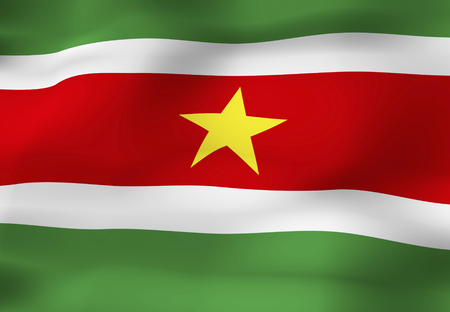 suriname: Suriname Flag Stock Photo