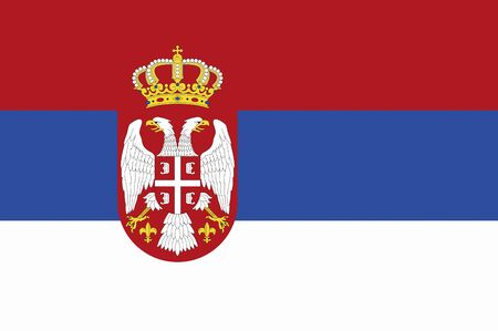 serb: Republic of Serbia of the national flag Stock Photo