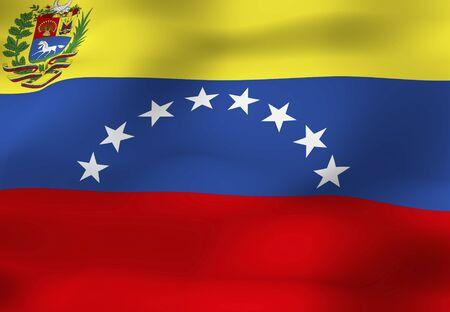 bandera de venezuela: Bandera de Venezuela  Foto de archivo