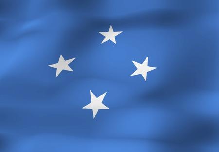micronesia: Micronesia flag Stock Photo