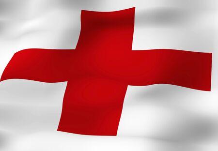 cruz roja: La bandera de la Cruz Roja