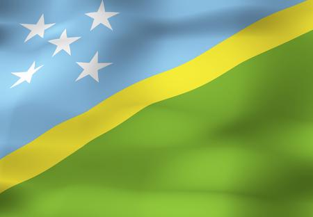 solomon: Solomon Islands flag Stock Photo