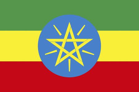 ethiopia flag: Flag of Ethiopia Stock Photo