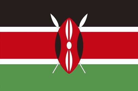 kenya: Flag of Kenya