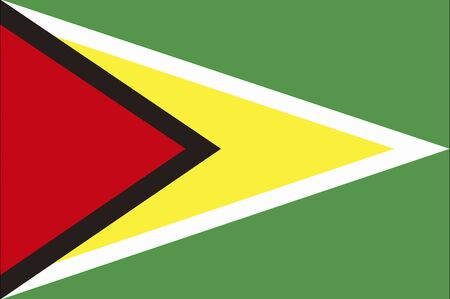 guyana: Guyana Flag Stock Photo