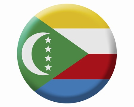 comoros: Flag of Comoros Stock Photo