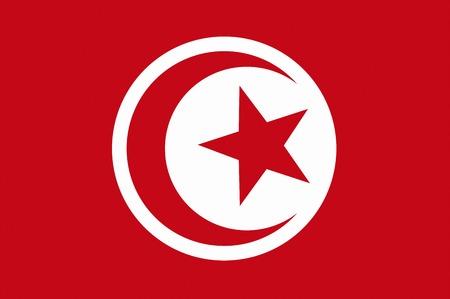 tunisia: Flag of Tunisia Stock Photo
