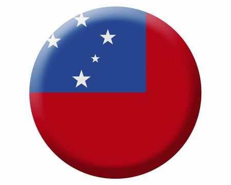 samoa: Flag of Samoa Stock Photo