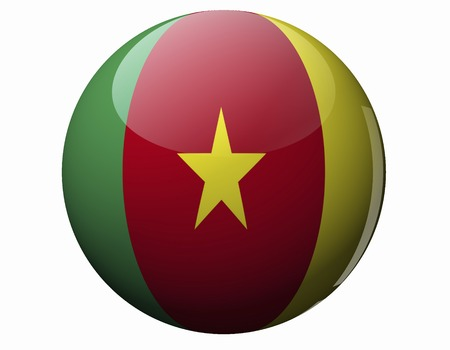 cameroon: Flag of Cameroon Stock Photo