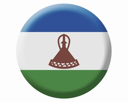 LESOTHO: Flag of Lesotho