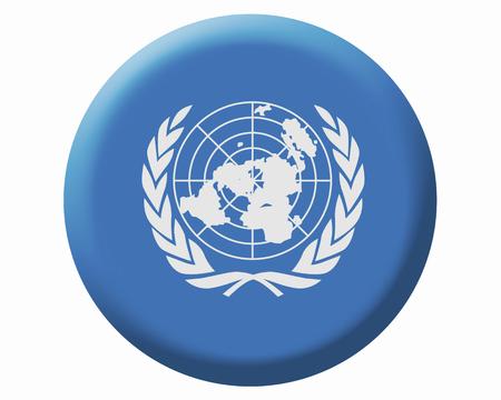 united nations: Bandera de las Naciones Unidas Foto de archivo