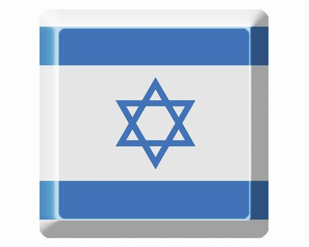 foreign national: Flag of Israel Stock Photo