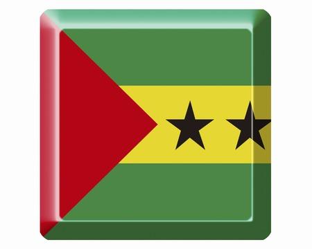principe: Santo Tomé y Príncipe bandera Foto de archivo