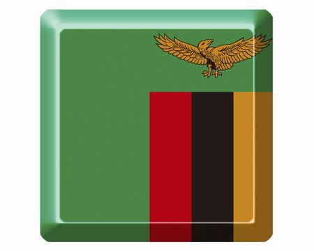 zambia: Flag of Zambia Stock Photo