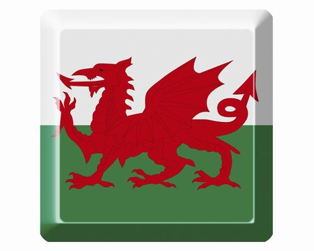 wales: Flag of Wales Stock Photo