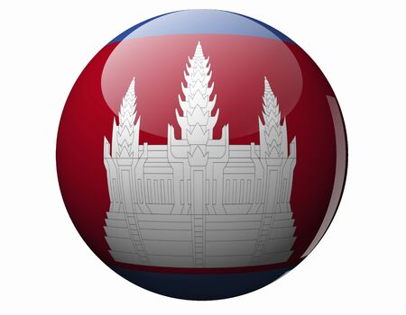 foreign national: Cambodia Flag Stock Photo