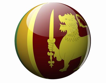 スリランカの国旗 写真素材