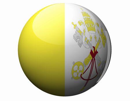 vatican: Flag of Vatican City Stock Photo