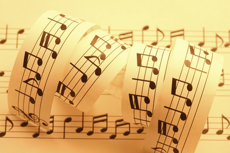 musical score: Musical notes