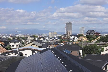 pleasent: Solar panels and Town