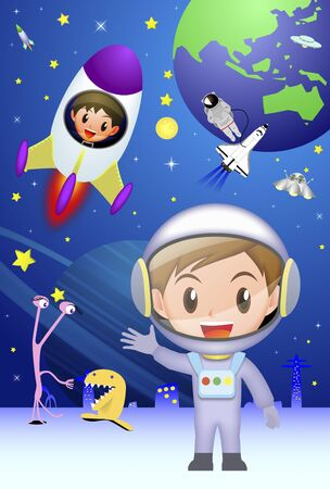 space travel: Space travel Stock Photo
