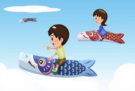 may fly: Riding on carp streamer