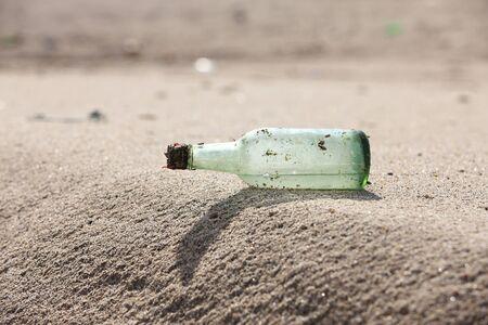 sandy beaches: Sandy beaches and bottles