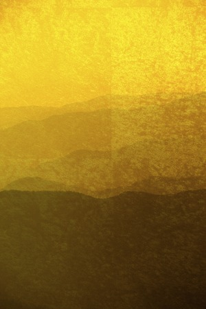 Background of gold folding screen and mountains