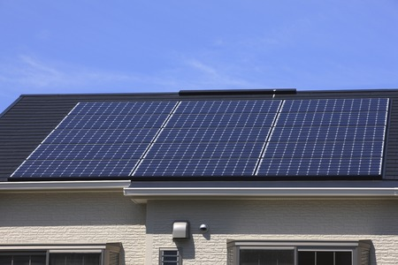 solar roof: Solar Panel Stock Photo