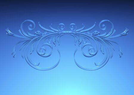 ガラス調のパターン