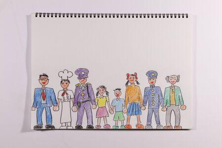 schoolwork: Illustrations various people