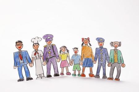 Illustrations various people