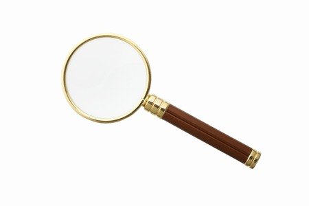 Magnifying glass Archivio Fotografico